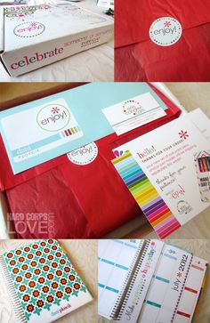 Erin Condren Life Planner - look at how they package your items. They really do it right!