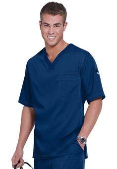 Greys Anatomy mens v-neck scrub top. Main Image