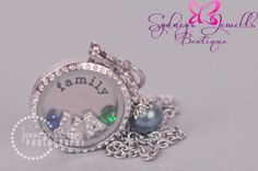 Customized Floating Locket on Chain Necklace by SydneysJewells, $35.00
