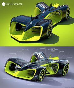 Roborace Autonomous Race Car of the Future Replaces Human Drivers -  #carporn #future #racing