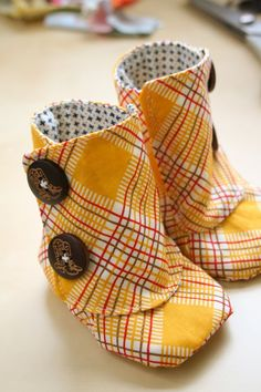 Button Booties   - CountryLiving.com