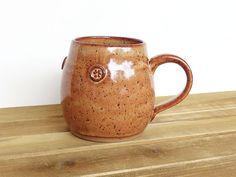 Coffee Cup Ceramic Stoneware in Shino Glaze  by dorothydomingo