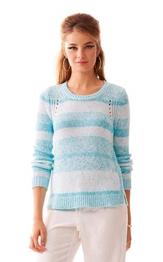 The Tabitha ombre crewneck sweater is the perfect pairing on a cool night with Lilly Shorts. Always add a sweater like this to your suitcase when traveling - it's a must.
