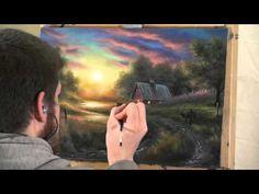Oil Painting Time-lapse - Barn Scene #barnpainting  sunset rustic decor art painting