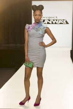 Dom Streater's final design for the fourth challenge of Project Runway season 12, airing Thursday, August 8, at 9pm ET/PT on Lifetime.
