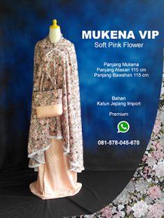 Mukena Vip Soft Pink Flower - Grosir Pesan Mukena katun jepang santung bordir batik bali murah anak