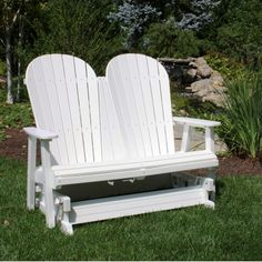 love the glider idea!   NOT THE PRICE!!   Jamestown Double Adirondack Glider - 11 Colors by Malibu Outdoor Living    Item #: MJAM-DG    $790.00