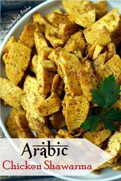 Arabic Chicken Shawarma - no special equipment needed! | from The Wanderlust Kitchen