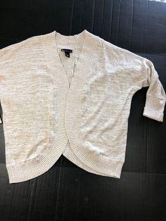 d2e501a9068 LANE BRYANT OPEN FRONT CARDIGAN Plus size 22   24 Cotton Blend Beige Khaki  1047  LaneBryant  Cardigan