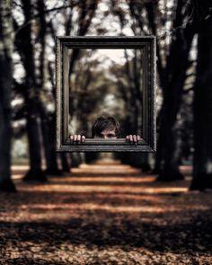 Photograph I_._I by Ronny Engelmann on Illusion Photography, Mirror Photography, Perspective Photography, Levitation Photography, Surrealism Photography, Photography Lessons, Photoshop Photography, Creative Photography, Amazing Photography