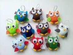игрушки совы из фетра
