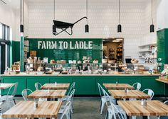 Farm to Ladle at Avalon - designed by Square Feet Studio #restaurantdesign #restaurant #design