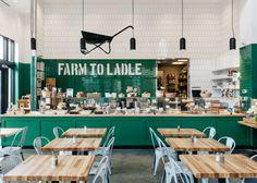 Farm to Ladle at Avalon - designed by Square Feet Studio #restaurantdesign #restaurant #design
