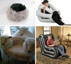 right up, maybe it is designed whatever your position is ti be cosy under you? Funky Furnitures: 20 Clever Living Room Furniture Designs