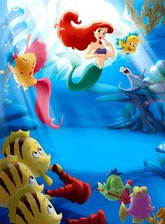 Disney → The Little Mermaid Ariel Wallpaper, Wallpaper Iphone Disney, Cute Disney Wallpaper, Disneyland Princess, Disney Princess Ariel, Princess Art, Disney Magic, Disney Art, Walt Disney