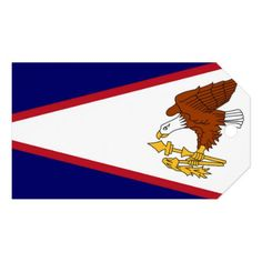 Gift Tag with Flag of American Samoa USA - craft supplies diy custom design supply special
