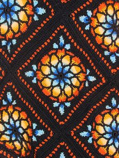 Stained Glass Window Afghan by Melody MacDuffee