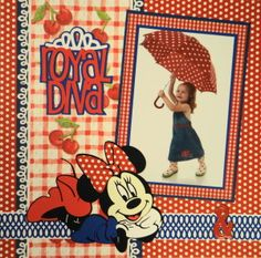 Scrapbook Page - Royal Diva - LHP of a 2 page layout with Minnie Mouse from Everyday Life, Album 24