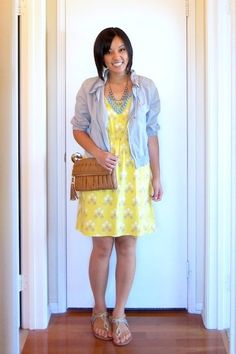 Putting Me Together: Five Ways to Style a Dress-i have this dress! great ideas!