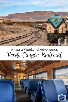 Taking the Verde Canyon Railroad is a great weekend or day trip from Phoenix or Flagstaff. During the 4-hour ride, you will see the gorgeous Verde Canyon while learning the history of the area and sightings of bald eagles and other wildlife.  Things to do in Arizona. #arizona #visitarizona #traintrip