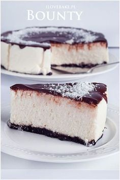 Sernik z kokosem bounty Malteser Cake, Cake Recipes, Dessert Recipes, Candida Recipes, Coconut Cheesecake, Cookie Desserts, How Sweet Eats, What To Cook, Easter Recipes