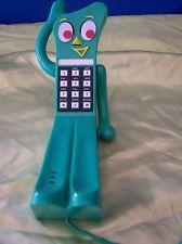 VINTAGE NOVELTY GUMBY TELEPHONE RETRO CORDED LANDLINE HOME PHONE (1985)