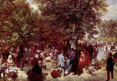 Afternoon in the Tuileries Gardens - Adolph Menzel