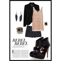 Black && Gold, created by cassiecclayton on Polyvore