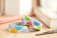 Stripe pattern Block Washi Tape Sample 1 x 1 m