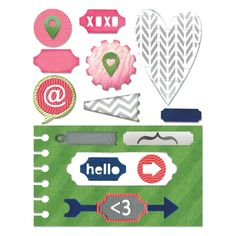 Sizzix Thinlits Die Set 20PK - Notebook Base w/Layering Shapes