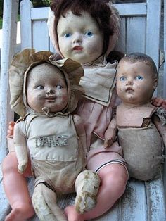 I like cracked and weathered old dolls, even if my family thinks they are creepy