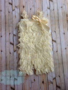 Beautiful ivory lace romper on Etsy, $14.76