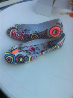Schuhe bemalt
