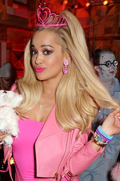Rita Ora presses pause on her prized platinum locks for something pretty (and pink!)
