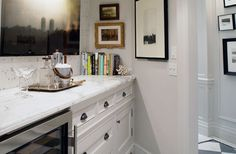 """Haute Indoor Couture: """"Small White Kitchen With Leaded Glass Doors"""""""