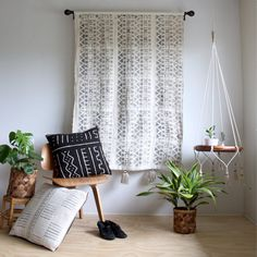 Natural Cotton Hanging Table Holder Hanging by iheartnorwegianwood