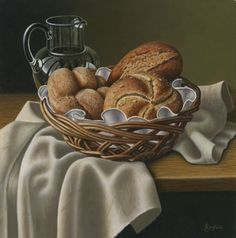 Still life with Bread by Anne Songhurst