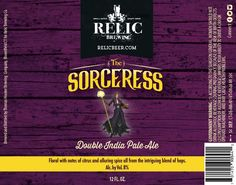 Label design for Relic Brewing
