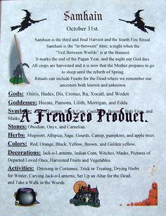 Samain:  BOS Samhain page.