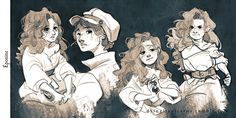 """Cosette, Marius and Éponine "" I'M almost doneee *cries a river* In the end, I love Éponine too much to not include her so…"