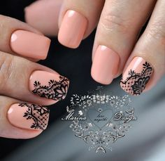 2019 Pink Nails Ideas In Fall and Winter - Page 13 of 68 - Fashion Yard Lace Nail Art, Lace Nails, Pink Nail Art, Nail Art Diy, Nail Art Hacks, Pink Nails, Beautiful Nail Designs, Beautiful Nail Art, Gorgeous Nails