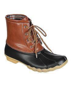 This Refresh Black Cognac Hunter Ankle Boot by Refresh is perfect! #zulilyfinds