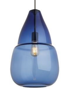 Capsian Grande by Tech Lighting - This elegant, large scale glass pendant is masterfully hand-blown to feature a beautiful clear draw at the crown of the ample, flowing teardrop silhouette