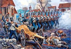 Advance of the French Chasseurs in Russia- by Aleksandr Yezhov
