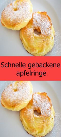 Fast baked apple rings- Schnelle gebackene apfelringe Ingredients for 2 servings 2 pcs of apples (large, shortcrusted) Ingredients for the dough 250 g flour 1 pinch of salt 200 ml milk 2 pcs eggs - Easy Smoothie Recipes, Easy Cookie Recipes, Cupcake Recipes, Dessert Recipes, Healthy Desserts, Pudding Desserts, Easy Vanilla Cake Recipe, Chocolate Cake Recipe Easy, Food Cakes