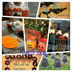 Halloween décor. Like the mason jar pumpkins.