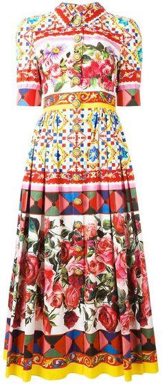 Dolce & Gabbana Mambo print shirt dress