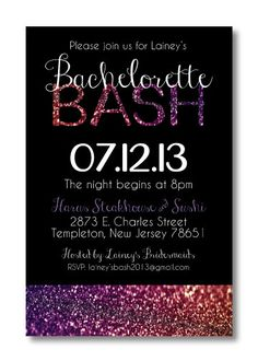 Printable Bachelorette Invitation by PerfectlyPrintables on Etsy, $13.00