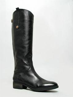 NEW SAM EDELMAN PENNY Women Hot Riding Leather Western Knee High Boots sz Black #SamEdelman #FashionKneeHigh