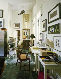 """a. ahern: """"Love this desk area, in corridors,  halls , alcoves it doesn't matter where they go as long as they don't feel like and look desk like."""""""